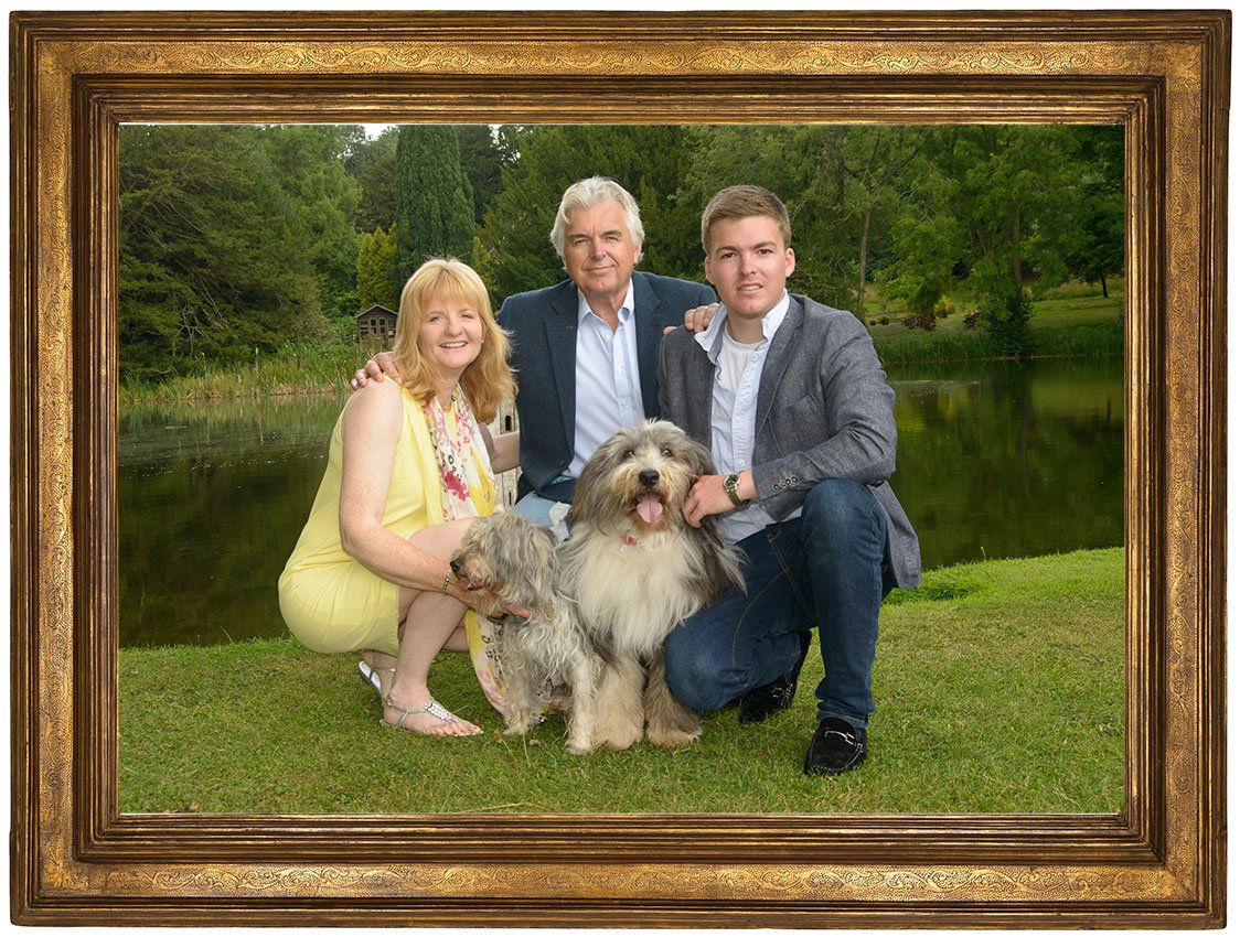 Professionally framed large photographs look amazing in all homes